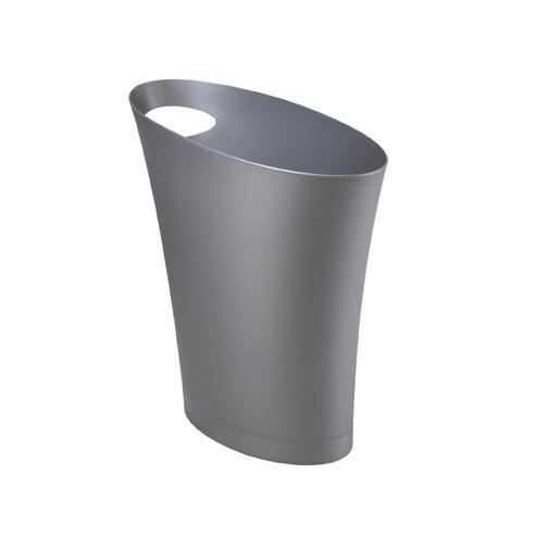 Серебристый мусорный контейнер Skinny
