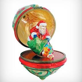 Открывающееся яйцо Дед Мороз с мешком
