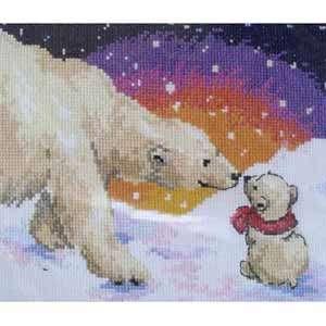 Набор для вышивания «Белые медведи»