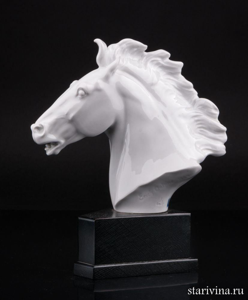 Фарфоровая статуэтка Голова лошади