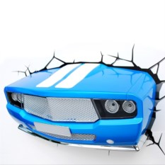 3D Светильник Синяя машина