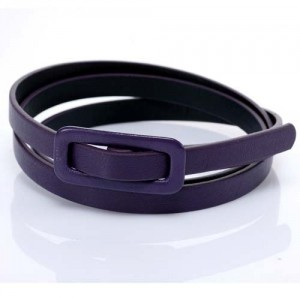 Ремень женский гладкий (фиолетовый)