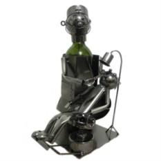 Декор бутылки из металла Стоматолог