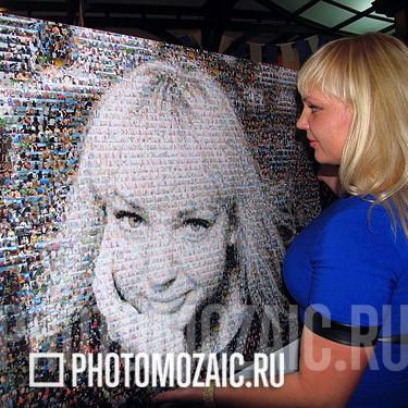 Фотомозаика в подарок жене
