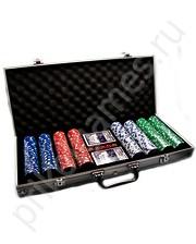 Набор для покера на 400 фишек, в металлическом кейсе.