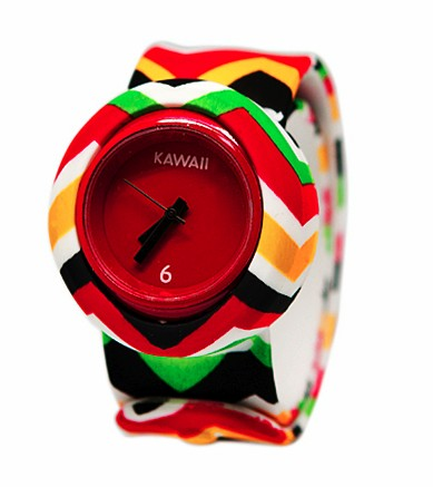 Слэп-часы mini Красный батик