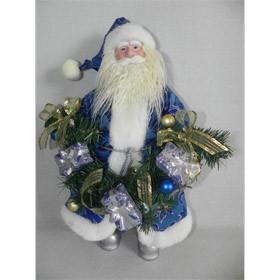 Дед мороз с гирляндой под елку
