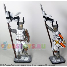 Оловянный солдатик Рыцарь Тевтонского ордена 12-13 веков