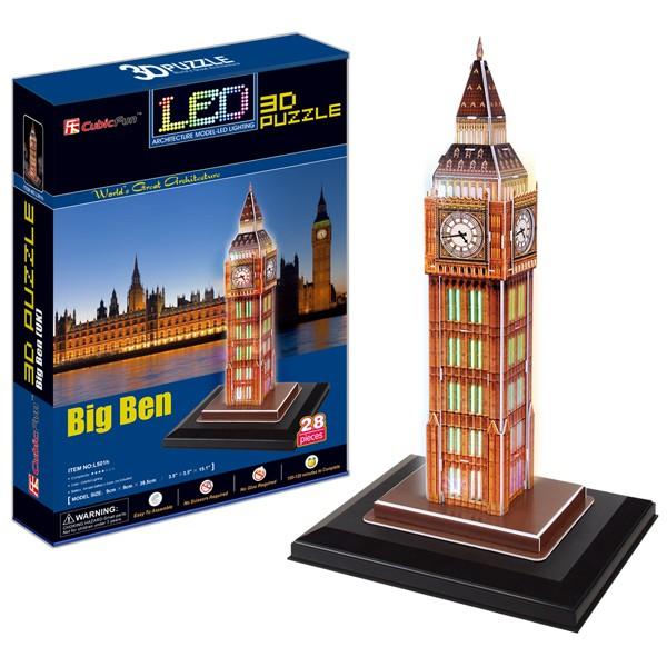3D пазл Cubic Fun Биг бен с иллюминацией (Великобритания)