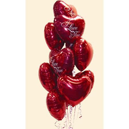 Букет из 12 фольгированных шаров «Я тебя люблю»