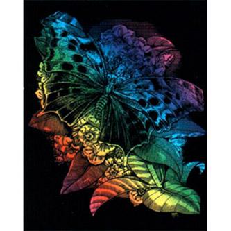 Гравюра радужная «Бабочка»