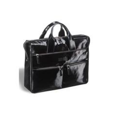 Вместительная черная деловая сумка Brialdi Manchester