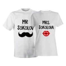 Парные футболки «Mr. и Mrs.»