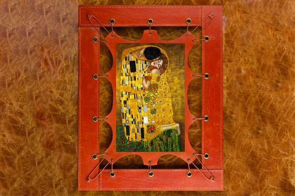 Картина из кожи Поцелуй Г.Климт ElolE Interior