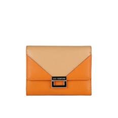 Женский оранждевый кошелек из натуральной кожи Leo Ventoni