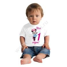 Детская футболка Мне 1 годик. Минни