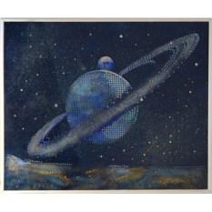 Картина с кристаллами Сваровски Планета