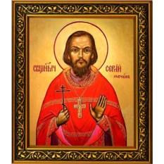 Икона на холсте Сергий Мечев священномученик