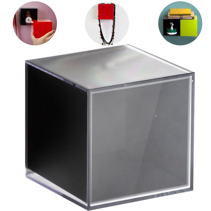 Полка-вешалка Pixel, прозрачно-черная
