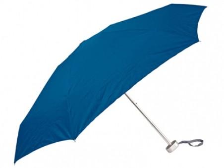 Синий складной механический зонт в футляре