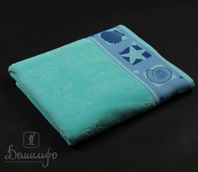 Полотенце Таск Шелл, голубое, 70х140