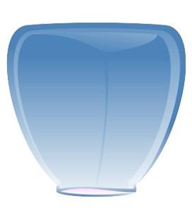 Небесный фонарик Синий конус 84см