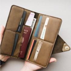 Портмоне-конверт для путешественников (цвет: оливковый)