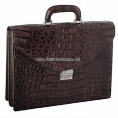Большой мужской портфель из кожи крокодила
