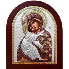 Икона в серебряном окладе Владимирская Божья Матерь