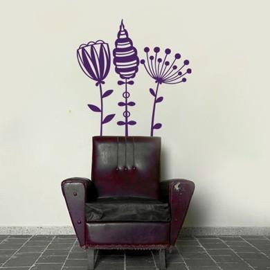 Интерьерная наклейка Экзотические цветы