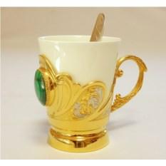 Кофейная чашка Малахитовая