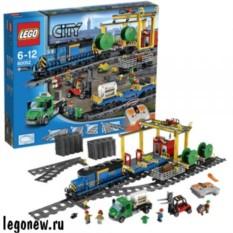 Конструктор Лего Город. Грузовой поезд