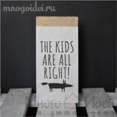 Эко-мешок для игрушек из крафт бумаги Дети в порядке!
