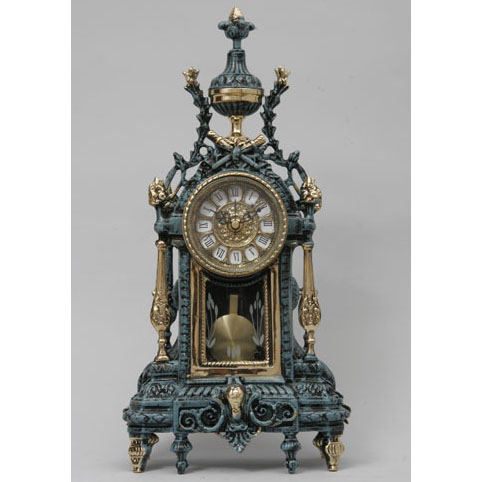 Часы настольные с маятником из бронзы Virtus