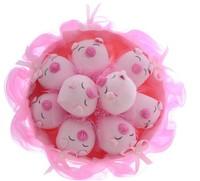 Букет из игрушек Розовые свинки