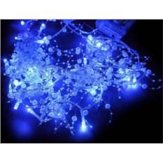 Синяя электрогирлянда Жемчужины с прозрачным проводом