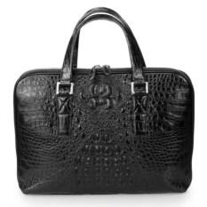 Мужская деловая сумка из кожи крокодила