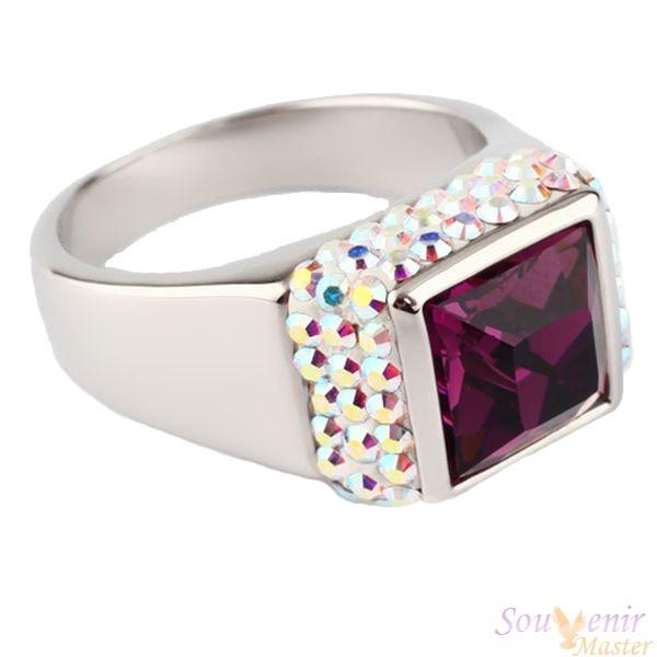 Кольцо с кристаллами Swarovski Мечта, квадрат