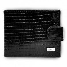 Черный кошелек из натуральной кожи