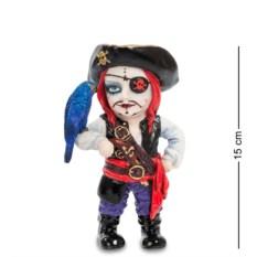 Статуэтка в стиле фэнтези Капитан пиратов и его попугай