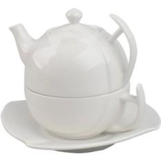 Чайный набор Чайник- чашка-блюдце в подарочной упаковке