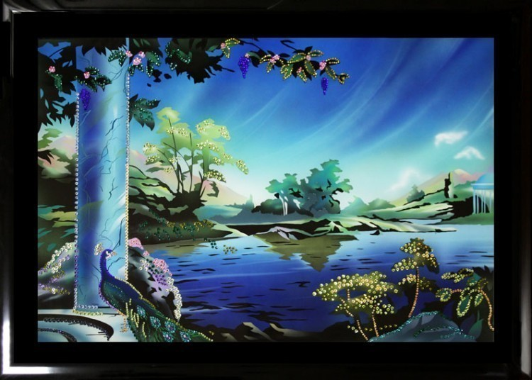 Картина Swarovski Сад Эдем, 1691 кристаллов, 50х70