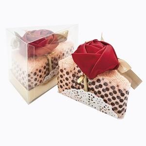 Полотенце столовое «Кусочек торта «Рококо в розовой пудре»