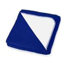 Плед Ланкастер (размер 130х170 см, белый с синим)