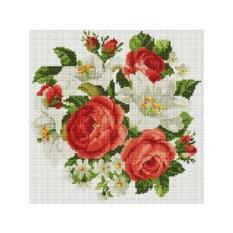Алмазная вышивка «Розы и лилии»