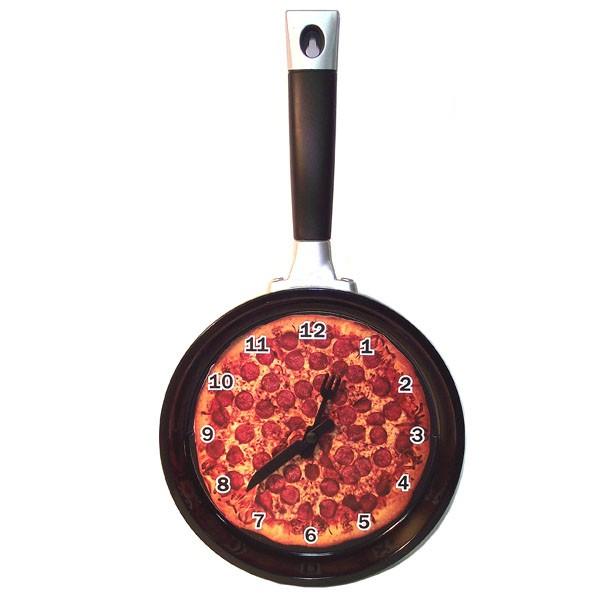 Часы настенные Сковородка с пиццей