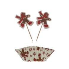 Новогоднее украшение для кексов Имбирьмен
