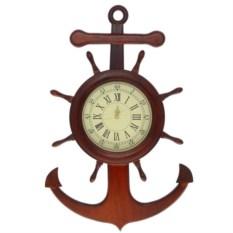Настенные часы Штурвал и якорь