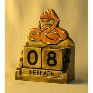 Календарь Змея-удав кружок (Декор антик)