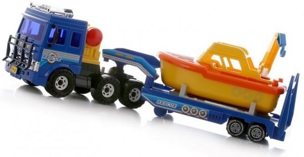 Игровой набор Машина с катером береговой охраны
